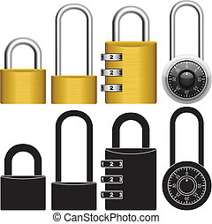 Padlock - Layered vector illustration of collected Padlock.