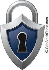 padlock, escudo