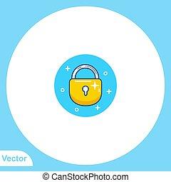 Padlock flat vector icon sign symbol