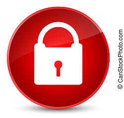 Padlock icon elegant red round button