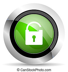 padlock icon, green button, secure sign