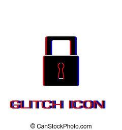 Padlock icon icon flat.