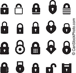 Padlock Icon set for your design