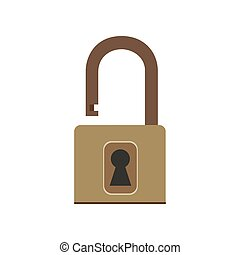 Padlock icon lock vector security symbol safety isolated protection key illustration privacy. Password safe sign unlock secure