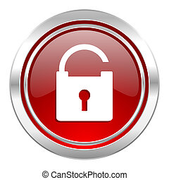 padlock icon, secure sign