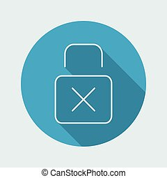 Padlock icon - Thin series