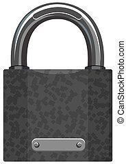 padlock illustration