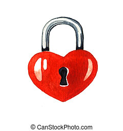 Padlock in the shape of a heart
