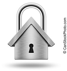 Padlock in the shape of the house