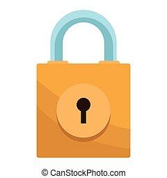padlock isolated icon