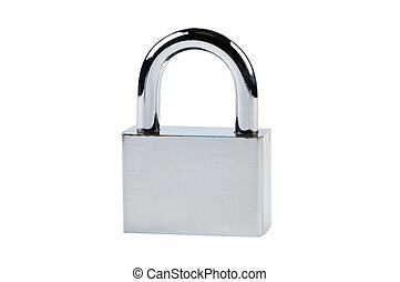Padlock isolated on a white background.