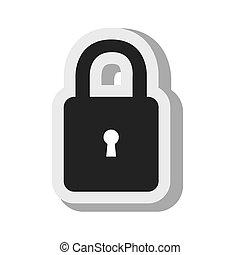 padlock key lock security design