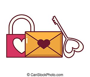 happy valentines day - padlock mail and key love happy...