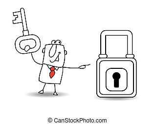 padlock, negócio