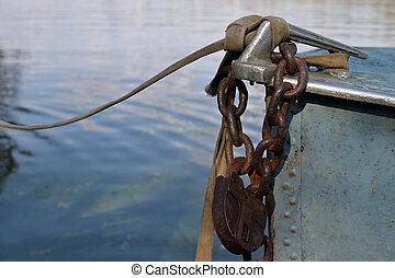 Padlock on boat