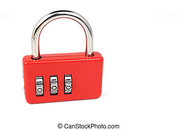 Padlock on white background