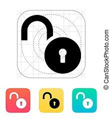 Padlock open icon.