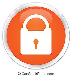 Padlock orange button