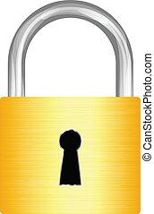 padlock, ouro