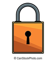 padlock safety icon