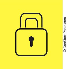 padlock safety security icon design