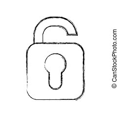 padlock secure isolated icon