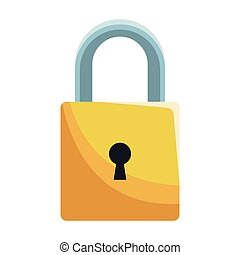 Padlock security system vector illustration graphic design