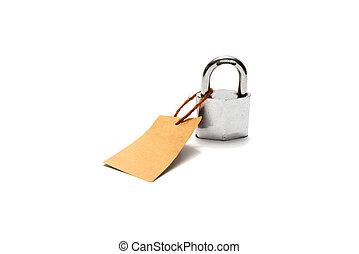 padlock, tag