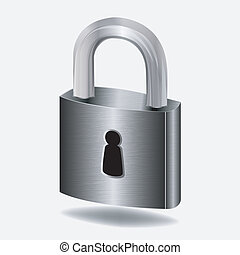 padlock - vector illustration