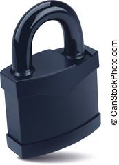 Padlock. Vector illustration