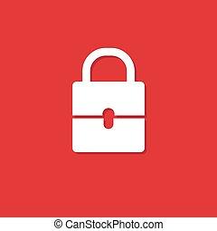 padlock white illustration