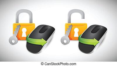 padlock Wireless computer mouse