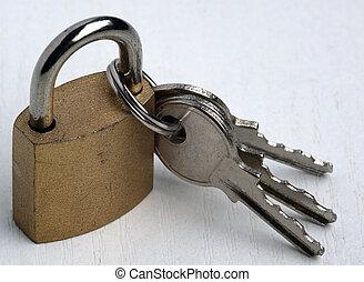 padlock with 3 kays