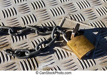 padlock y cadena