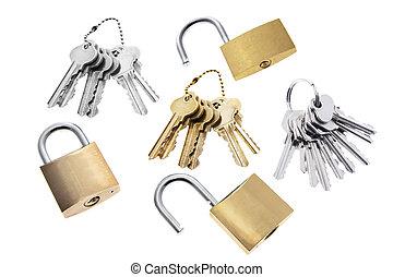 Padlocks and Keys