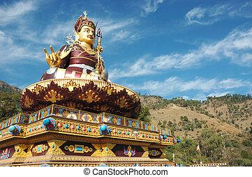 Padmasambhava golden statue, India