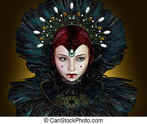 Padme - portrait of a young woman with fantasy makeup