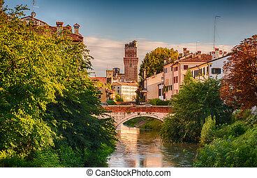 Padova - View of Padova bridge in Italy