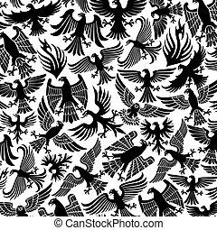 padrão, águias, fundo, ícones