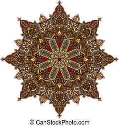 padrão, árabe, circular
