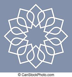 padrão, árabe