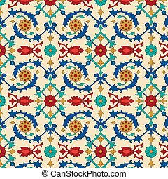 padrão, árabe, seamless