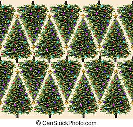 padrão, árvore, natal