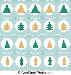 padrão, árvore, natal, fundo, seamless