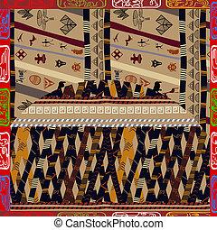 padrão, étnico, seamless, africano