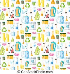 padrão, ícone, seamless, limpeza