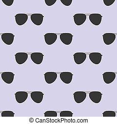 padrão, óculos, seamless, aviador