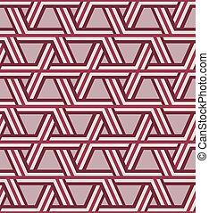 padrão, óptico, triangulo, seamless