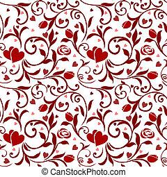 padrão, 01, seamless, valentines