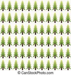 padrão, abstratos, árvore, natal